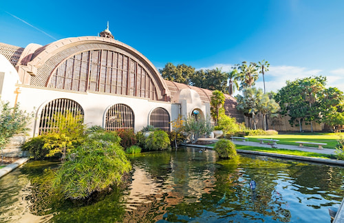 external view of the Botanical Building in San Diego's Balboa Park