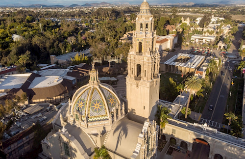 areial view of San Diego Museum of Man in Balboa Park