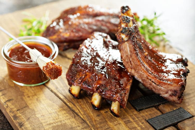 Texas barbecue ribs in Dallas