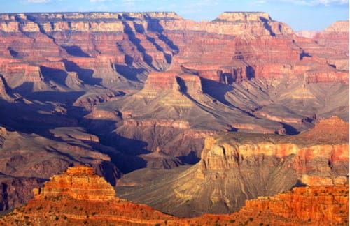 Aerial view of the Grand Canyon's South Rim