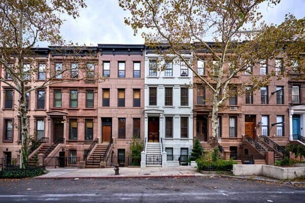 classic new york city townhomes on a quiet nyc street
