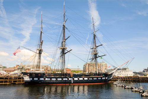 USS Constitution at Boston Harbor