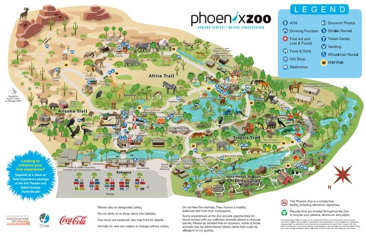 Map of the Phoenix Zoo