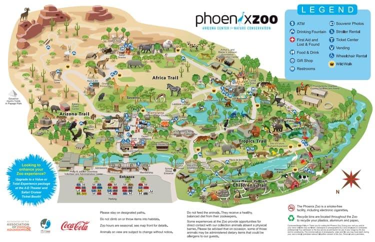 Map of the Phoenix Zoo