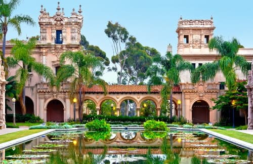 beautiful architecture at San Diego's Balboa Park