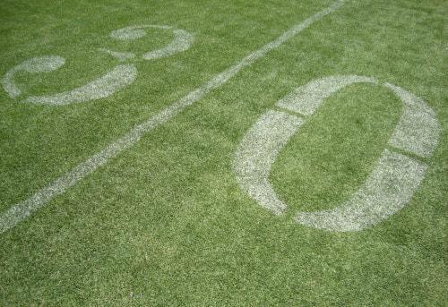 30 yard line on the field of levi's stadium
