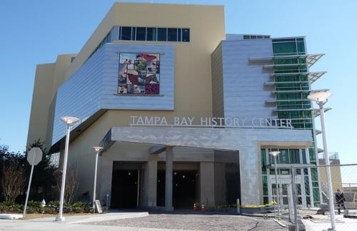 front view of the tampa bay history center entrance