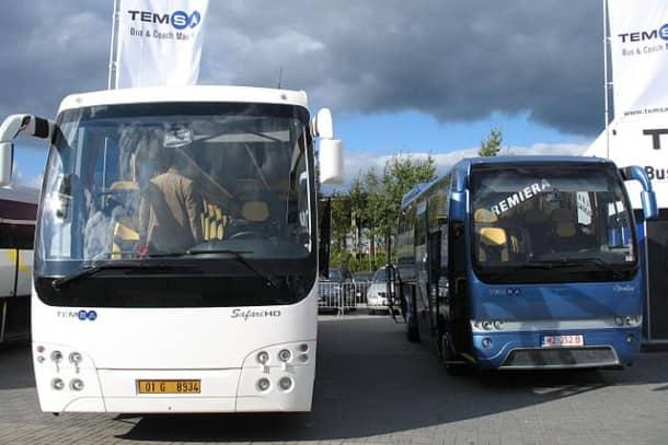 A TEMSA Opalin and Safari HD at TransExpo