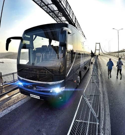 The front of a TEMSA Maraton Bus