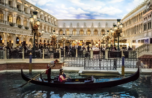 gondola outside of the venetian hotel las vegas
