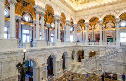 The interior columns of the Capitol building