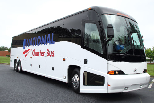 a charter bus with the
